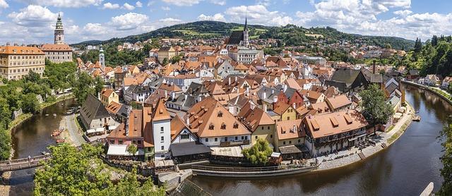 řeka a český krumlov