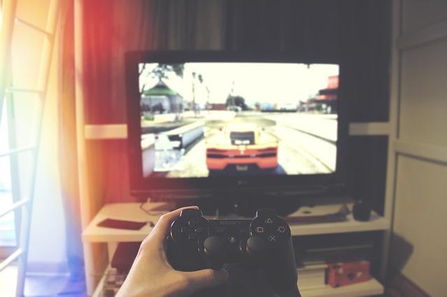 Hra auta na gamepadu