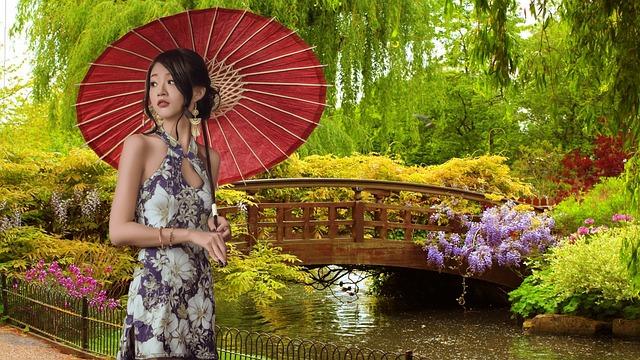 gejša v zahradě
