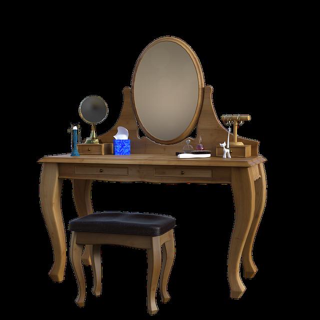 toaletní stolek pro líčení